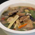 Laotian sweet and sour mekong fish soup