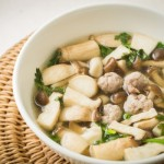 3 kinds of mushroom soup