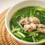 Pork bone soup with vegetables